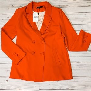 NWT English Factory Red Double Breast Blazer || L